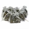 10 Bags of 7x9cm White Snow-Flake Lavender Bags